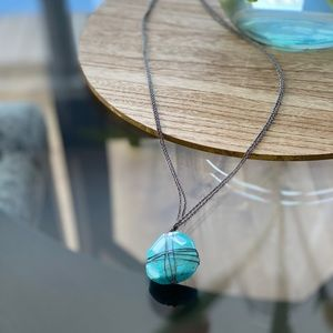 """Aerie Turquoise Pendant 16"""" Necklace"""